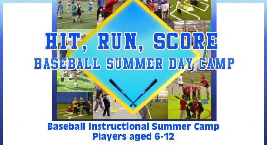 Baseball Hit Run Score Summer Camp