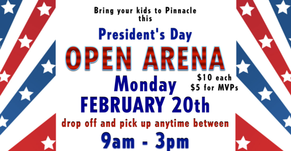 Open Arena: Monday February 20th