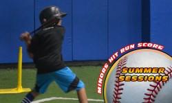 Summer Baseball Hit Run Score