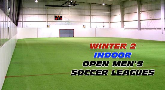 Winter 2 Open Men's Indoor Soccer Leagues